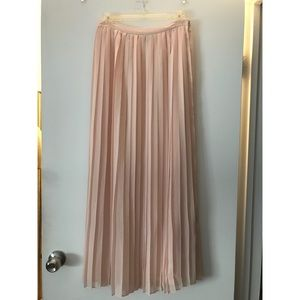 Sparkle and Fade pleated maxi skirt